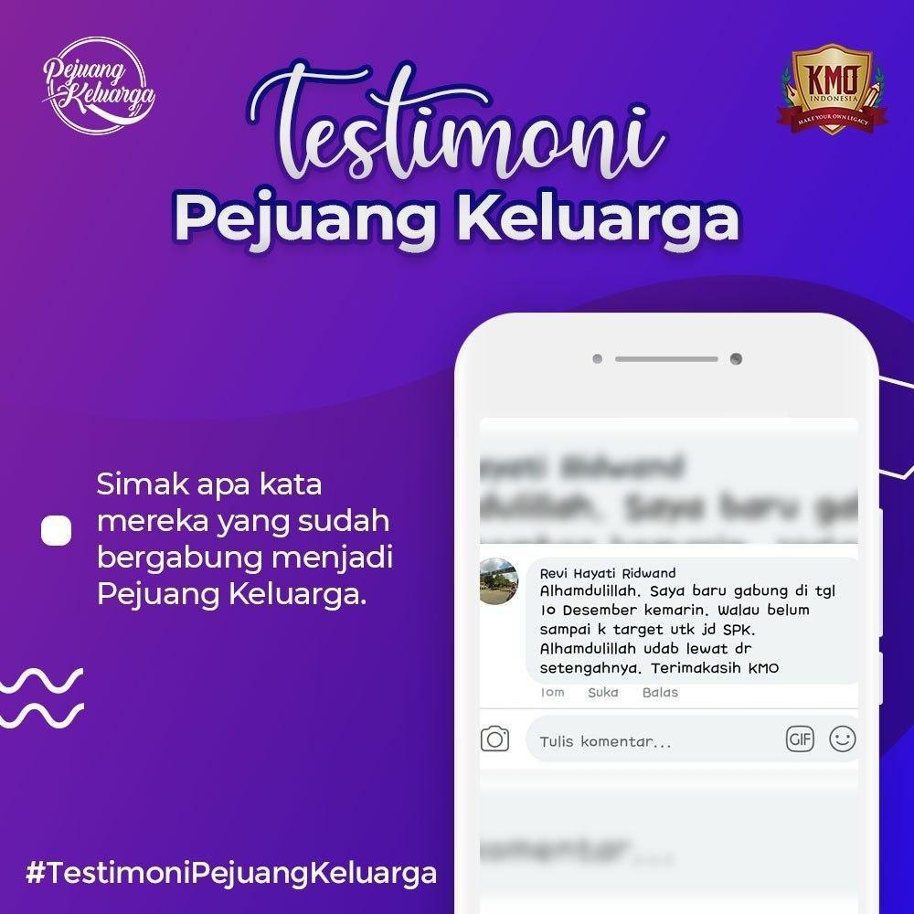Testimony KMO, Pejuang Keluarga KMO, Pejuang Keluarga KMO Indonesia, Pejuang Keluarga, Daftar Pejuang Keluarga, Cara Daftar Pejuang Keluarga, Gabung Pejuang Keluarga, Daftar PK KMO, Daftar Reseller Buku (1)